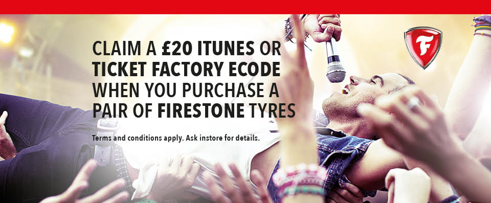 Win Great Gigs and Big Beats with Firestone Tyres!